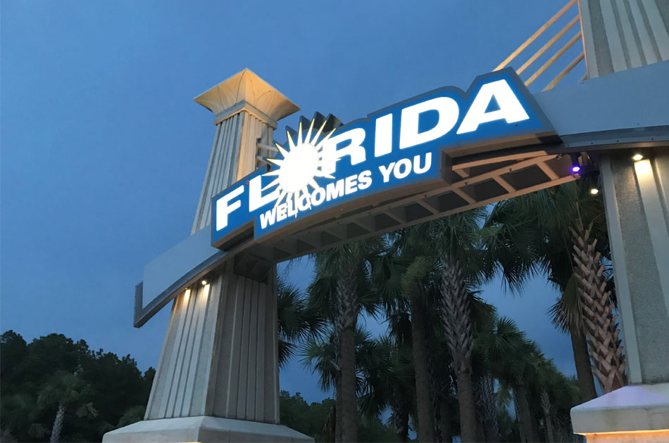 FDOT Welcome Center CHW provided landscape engineering