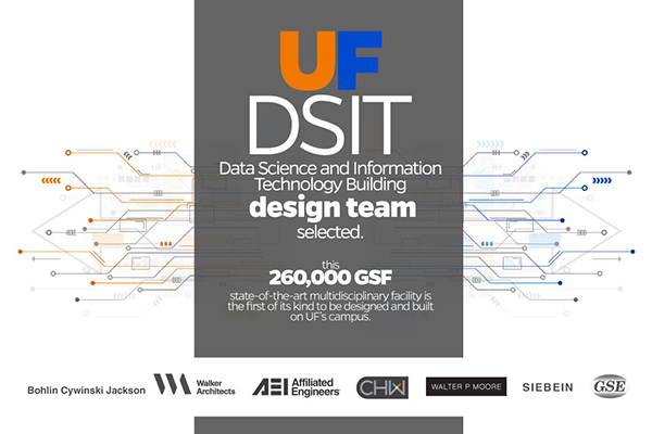 UF DSIT Team Selection. CHW is providing civil engineering, landscape architecture, land surveyor services for this project.