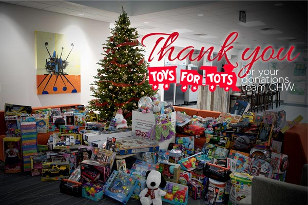 CHW Toys for Tots Donations