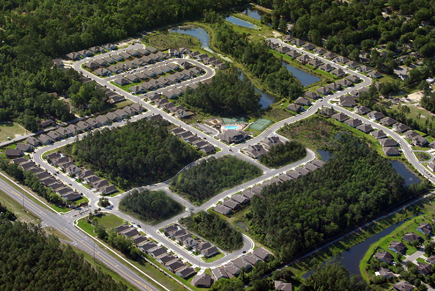 CHW provided civil engineering and land surveyor services for the Sorrento Subdivsion in Gainesville Florida