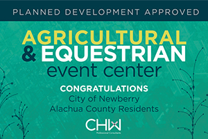 Agriculture and Equestrian Event Center Approved. CHW is providing land planning for this project.