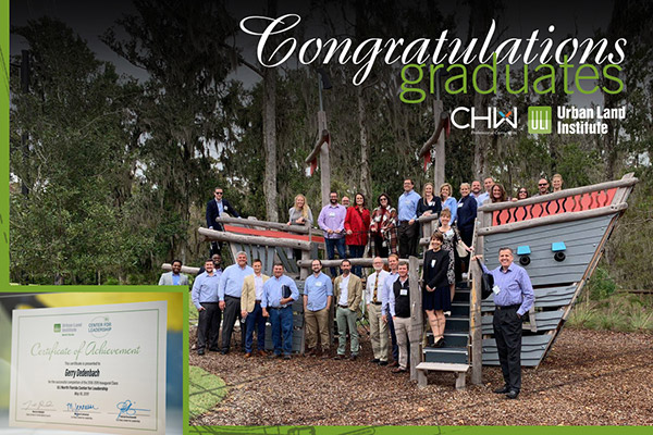 Graduates of the 2018-2019 class of the Urban Land Institute North Florida's Center for Leadership program.