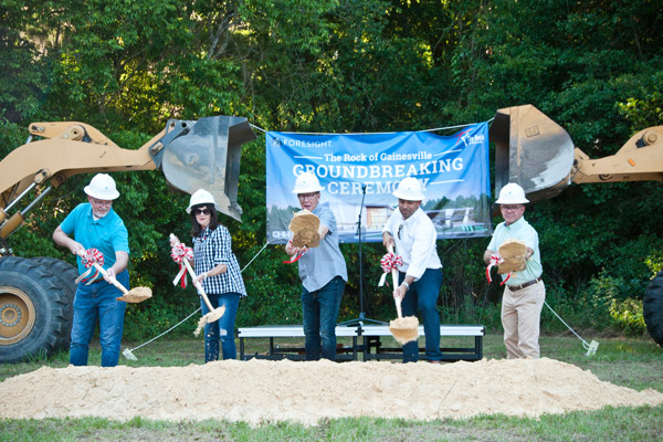 The Rock at Gainesville Groundbreaking. CHW Provided civil engineering services for this project