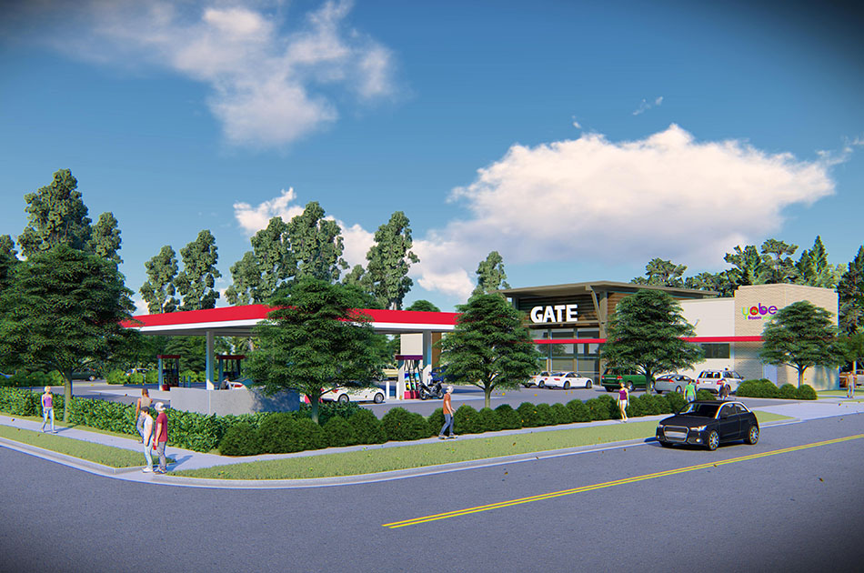 Render of Gate Gas Station in Gainesville, Florida