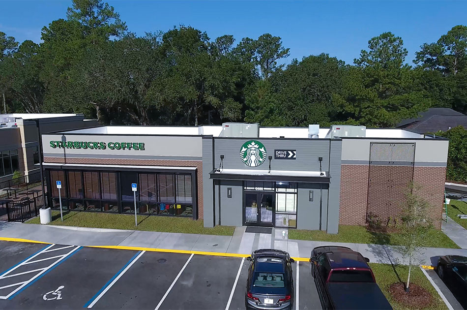 Starbucks CHW provided land surveyor services for this building in Gainesville, Florida