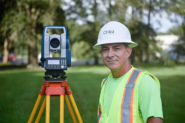 Wade Davidson Instrument Person in Land Surveying, CHW Professional Consultants, Gainesville, FL