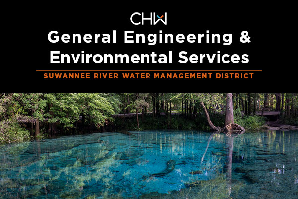 CHW was recently awarded the SWRMD Continuing Services Contract for general engineering and environmental services