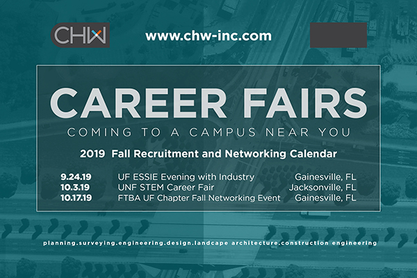 CHW is attending Career Fairs in Gainesville and Jacksonville, FL