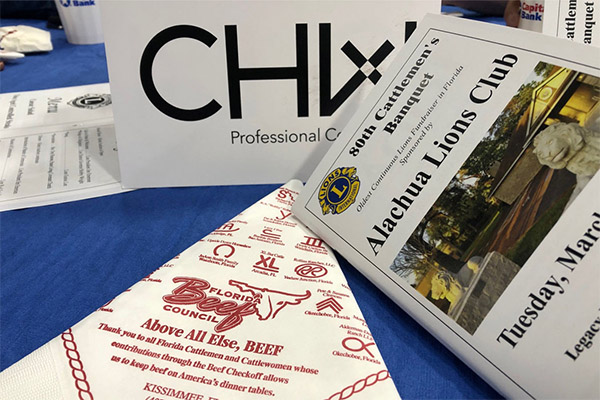 CHW Sponsored the Alachua Lions Club Banquet