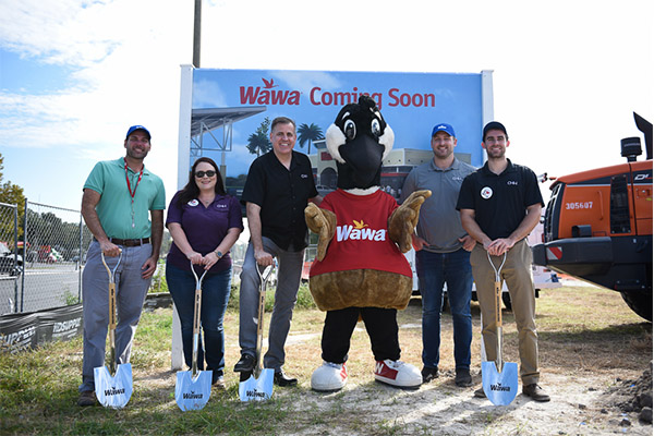 CHW team at the Wawa Groundbreaking in Gainesville, Florida