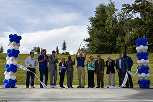 Legacy Park Ribbon Cutting in Alachua, Florida. CHW provided civil engineering services for this project.