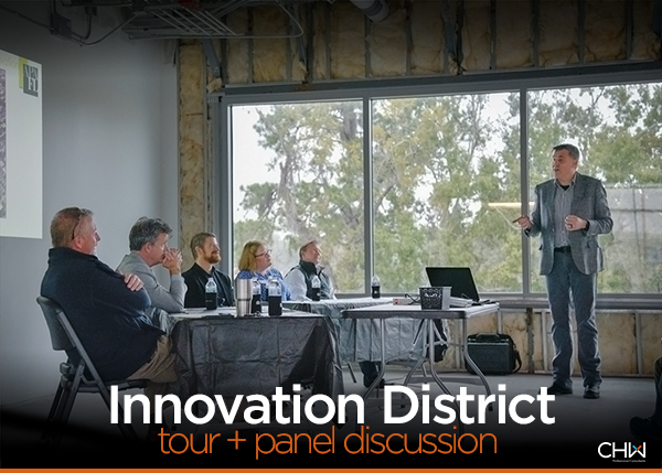 CHW at the American Planning Association Florida San Felasco Chapter Innovation District Tour and Panel Discussion in Gainesville, FL