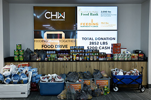 CHW 2019 Food Drive donations to the Bread of the Mighty Food Bank in North Central Florida