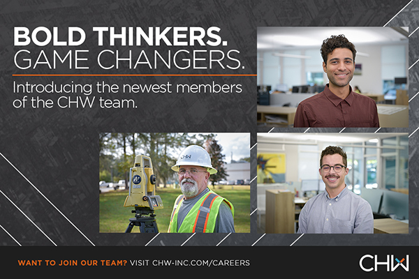 CHW is excited to welcome new members to the Landscape Architecture, Land Planning, and Land Surveyor teams in Gainesville, Florida
