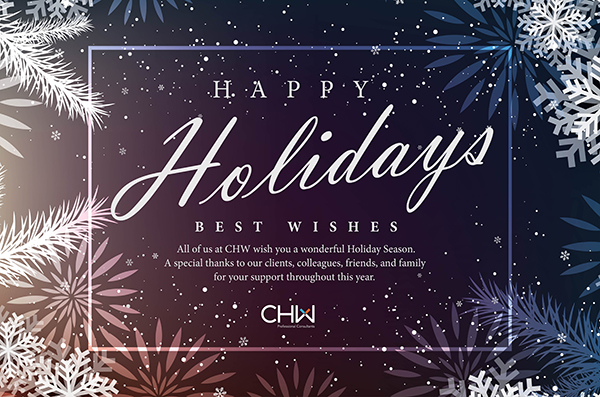 Happy Holidays from CHW Professional Consultants