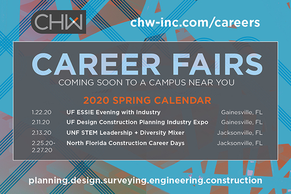 CHW Spring 2020 Career Fair Calendar in Gainesville and Jacksonville, Florida